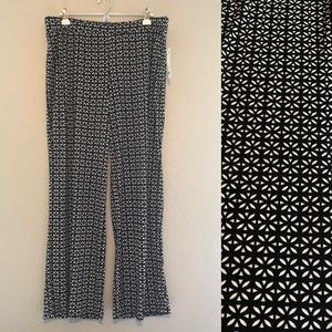NY Collection Geometric Palazzo Pant